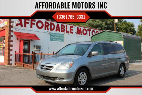 2007 Honda Odyssey for sale at AFFORDABLE MOTORS INC in Winston Salem NC