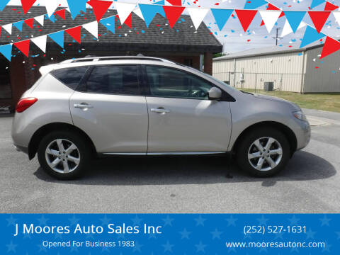 2009 Nissan Murano for sale at J Moores Auto Sales Inc in Kinston NC