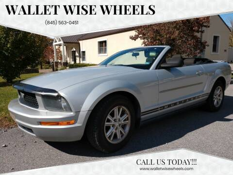 2008 Ford Mustang for sale at Wallet Wise Wheels in Montgomery NY