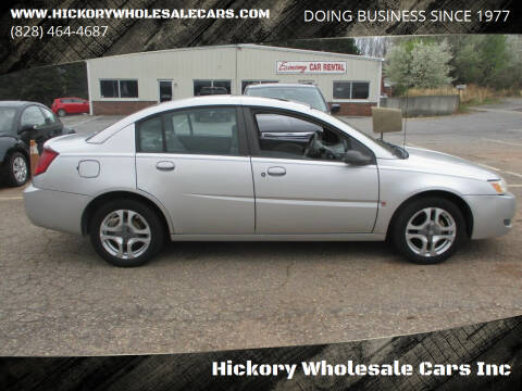2003 Saturn Ion for sale at Hickory Wholesale Cars Inc in Newton NC