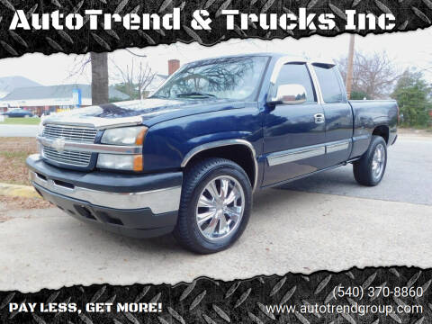 2005 Chevrolet Silverado 1500 for sale at AutoTrend & Trucks Inc in Fredericksburg VA