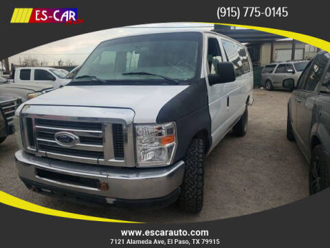 2012 Ford E-Series Wagon for sale at Escar Auto in El Paso TX