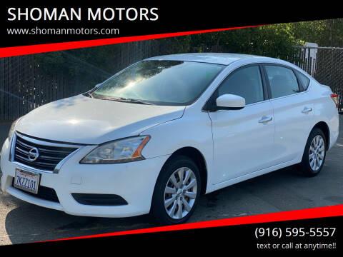 2015 Nissan Sentra for sale at SHOMAN MOTORS in Davis CA