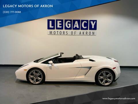 2008 Lamborghini Gallardo for sale at LEGACY MOTORS OF AKRON in Akron OH