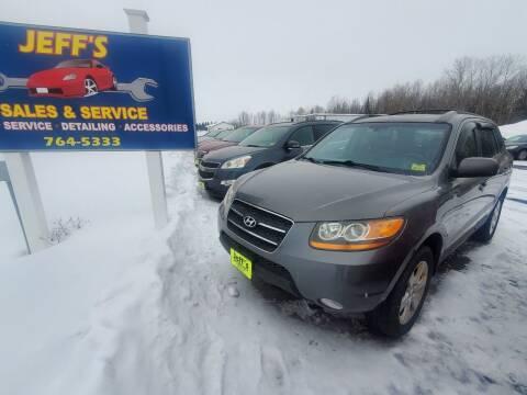2009 Hyundai Santa Fe for sale at Jeff's Sales & Service in Presque Isle ME