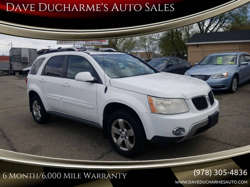2006 Pontiac Torrent for sale at Dave Ducharme's Auto Sales in Lowell MA