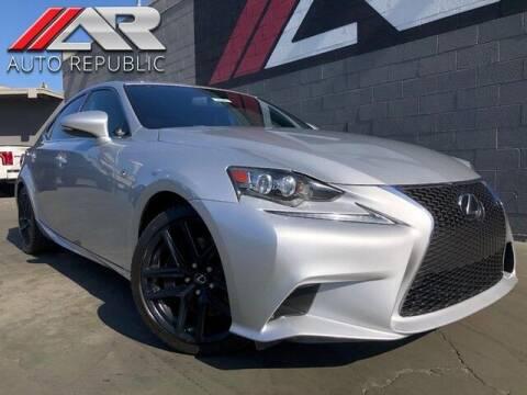 2014 Lexus IS 350 for sale at Auto Republic Fullerton in Fullerton CA