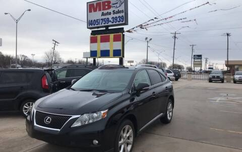 2010 Lexus RX 350 for sale at MB Auto Sales in Oklahoma City OK