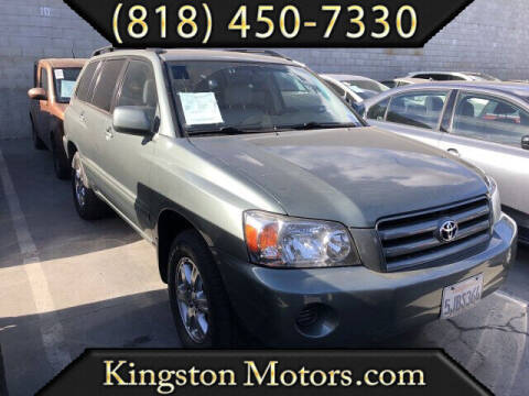 2004 Toyota Highlander for sale at Kingston Motors in North Hollywood CA