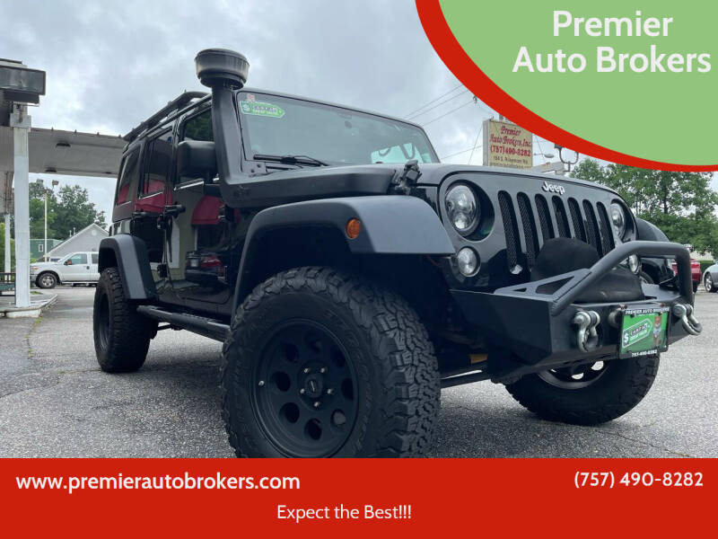 2014 Jeep Wrangler Unlimited for sale at Premier Auto Brokers in Virginia Beach VA