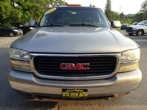 2003 GMC Yukon XL for sale at MOUNTAIN VIEW AUTO in Lyndonville VT