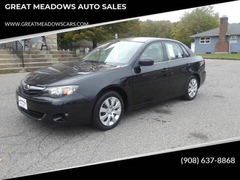2011 Subaru Impreza for sale at GREAT MEADOWS AUTO SALES in Great Meadows NJ