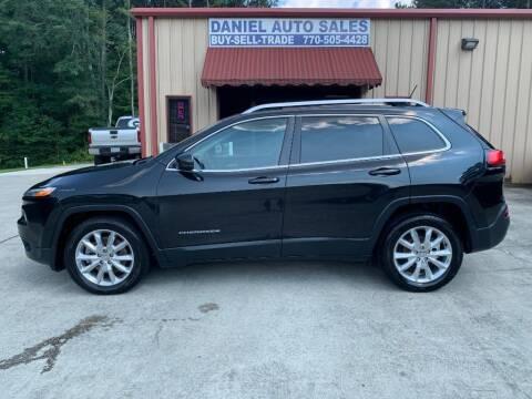 2015 Jeep Cherokee for sale at Daniel Used Auto Sales in Dallas GA