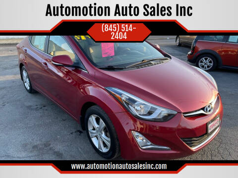 2016 Hyundai Elantra for sale at Automotion Auto Sales Inc in Kingston NY