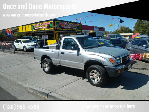 2000 Toyota Tacoma for sale at Once and Done Motorsports in Chico CA