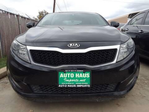 2013 Kia Optima for sale at Auto Haus Imports in Grand Prairie TX