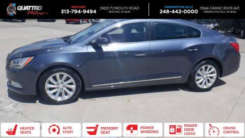 2015 Buick LaCrosse for sale at Quattro Motors 2 - 1 in Redford MI