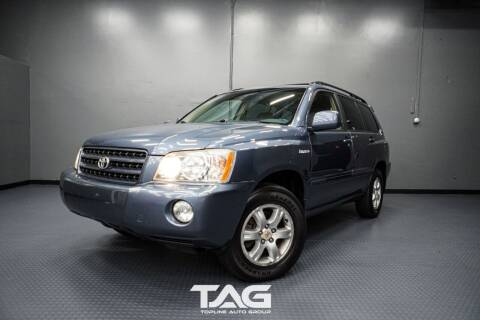 2003 Toyota Highlander for sale at TOPLINE AUTO GROUP in Kent WA