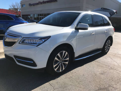 2015 Acura MDX for sale at European Performance in Raleigh NC