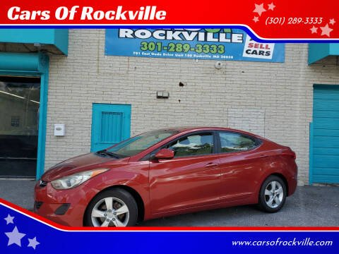 2011 Hyundai Elantra for sale at Cars Of Rockville in Rockville MD