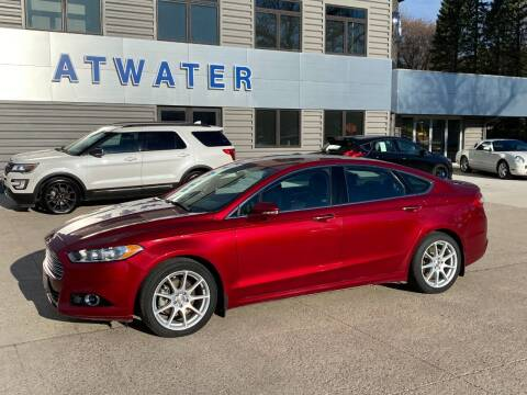 2014 Ford Fusion for sale at Atwater Ford Inc in Atwater MN
