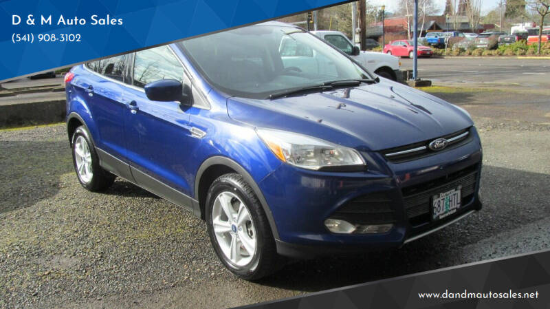 2015 Ford Escape for sale at D & M Auto Sales in Corvallis OR