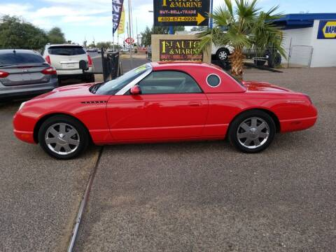2002 Ford Thunderbird for sale at 1ST AUTO & MARINE in Apache Junction AZ