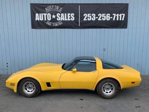 1980 Chevrolet Corvette for sale at Austin's Auto Sales in Edgewood WA