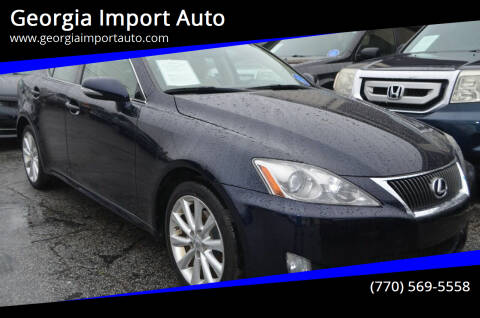 2009 Lexus IS 250 for sale at Georgia Import Auto in Alpharetta GA