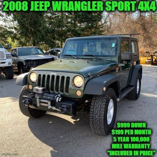 2008 Jeep Wrangler for sale at D&D Auto Sales, LLC in Rowley MA