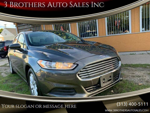 2015 Ford Fusion for sale at 3 Brothers Auto Sales Inc in Detroit MI