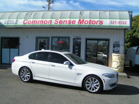 2011 BMW 5 Series for sale at Common Sense Motors in Spokane WA