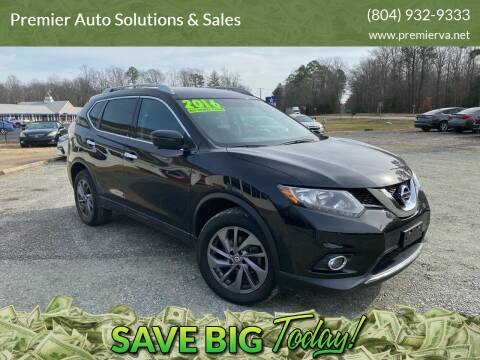 2016 Nissan Rogue for sale at Premier Auto Solutions & Sales in Quinton VA