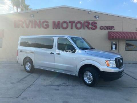 2017 Nissan NV Passenger for sale at Irving Motors Corp in San Antonio TX