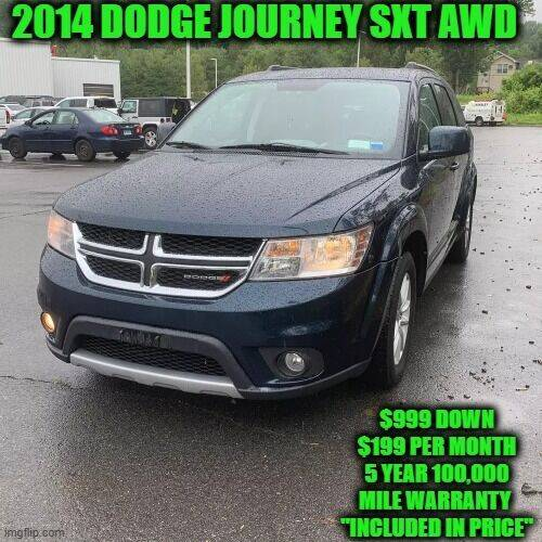 2014 Dodge Journey for sale at D&D Auto Sales, LLC in Rowley MA