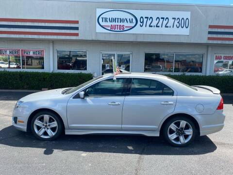 2010 Ford Fusion for sale at Traditional Autos in Dallas TX