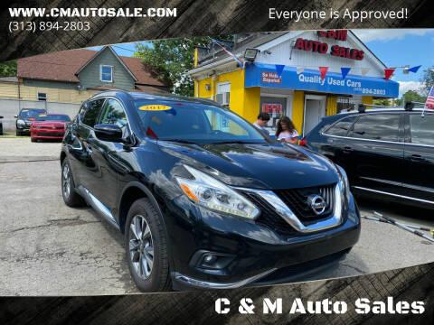 2017 Nissan Murano for sale at C & M Auto Sales in Detroit MI