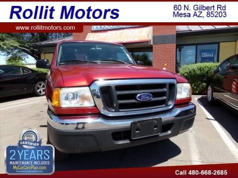 2004 Ford Ranger for sale at Rollit Motors in Mesa AZ