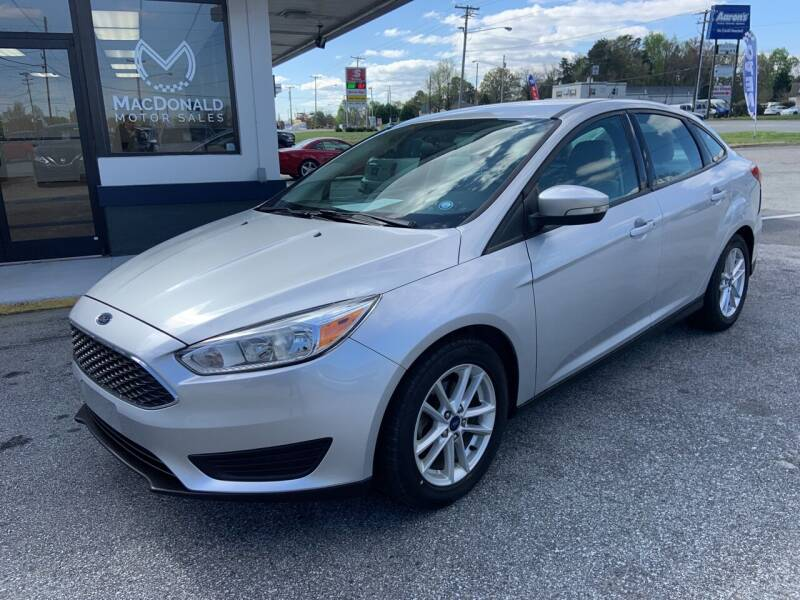 2016 Ford Focus for sale at MacDonald Motor Sales in High Point NC