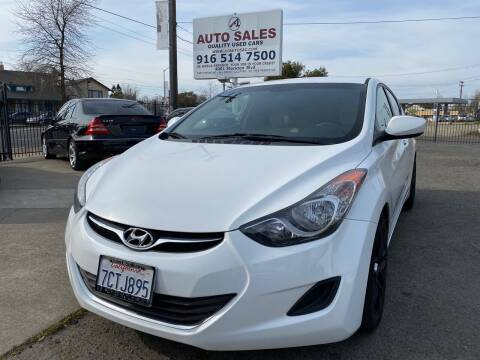 2013 Hyundai Elantra for sale at A1 Auto Sales in Sacramento CA