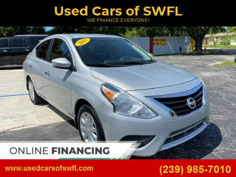 2015 Nissan Versa for sale at Used Cars of SWFL in Fort Myers FL