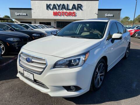 2017 Subaru Legacy for sale at KAYALAR MOTORS in Houston TX