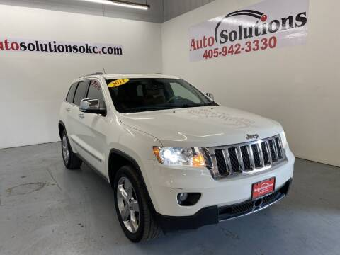 2012 Jeep Grand Cherokee for sale at Auto Solutions in Warr Acres OK