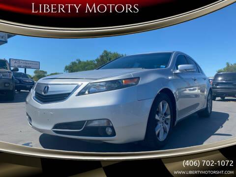 2012 Acura TL for sale at Liberty Motors in Billings MT