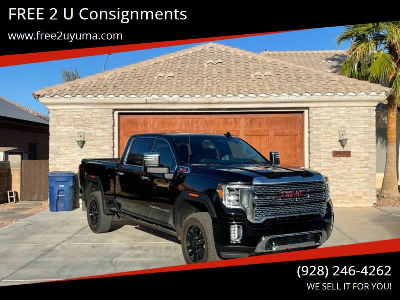 2021 GMC Sierra 3500HD for sale at FREE 2 U Consignments in Yuma AZ