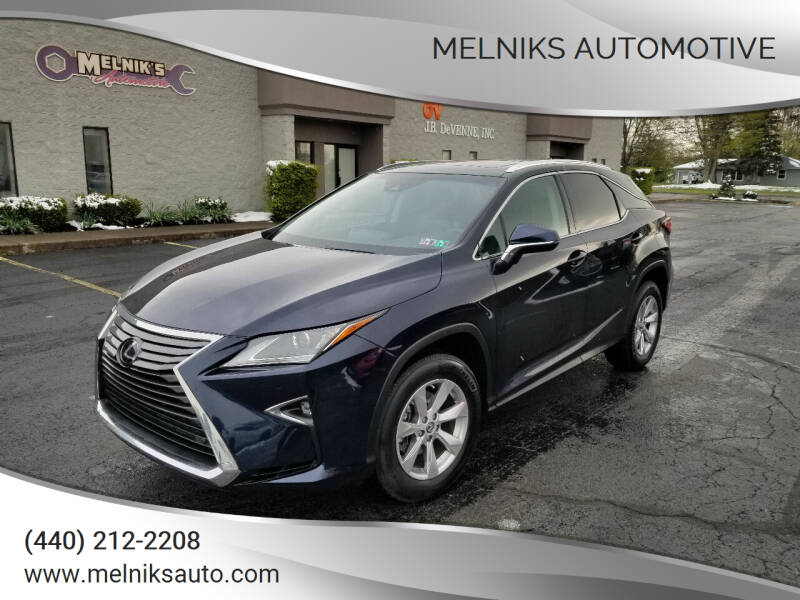 2019 Lexus RX 350 for sale at Melniks Automotive in Berea OH