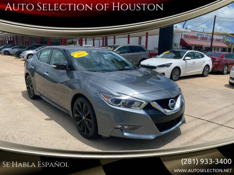 2017 Nissan Maxima for sale at Auto Selection of Houston in Houston TX