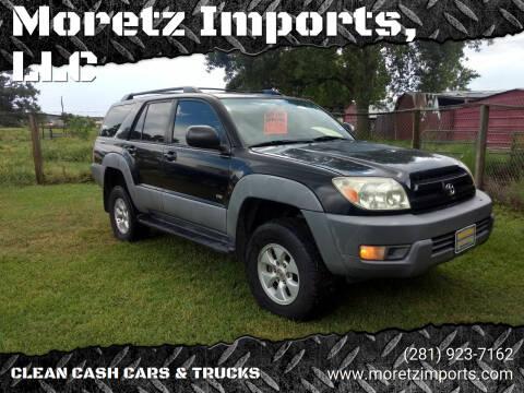 2003 Toyota 4Runner for sale at Moretz Imports, LLC in Spring TX