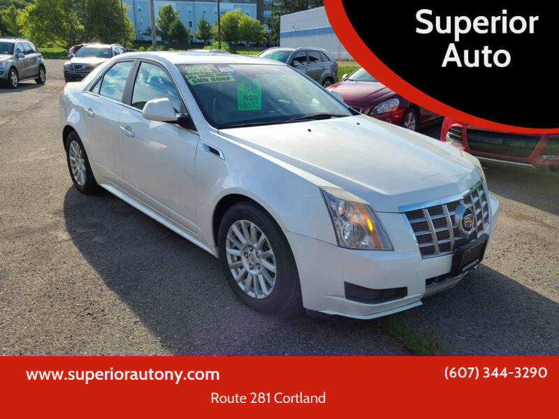 2012 Cadillac CTS for sale at Superior Auto in Cortland NY