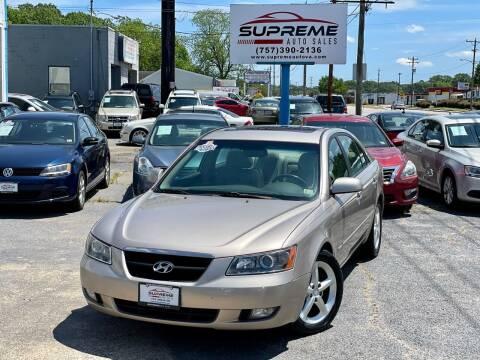 2006 Hyundai Sonata for sale at Supreme Auto Sales in Chesapeake VA